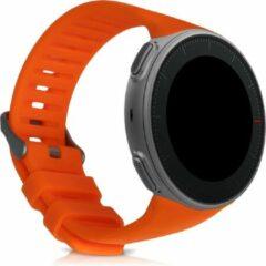 Kwmobile horlogeband voor Polar Vantage V - siliconen armband voor fitnesstracker - oranje
