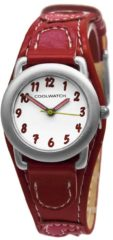 Coolwatch by Prisma P.1583 Kinderhorloge Hartjes staal/leder rood 21 mm