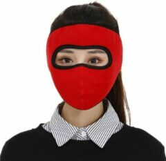 Faas Commerce Ski Masker - Motor Gezichtsmasker - Bivakmuts - Balaclava - Muts Skiën - Rood - heren en dames