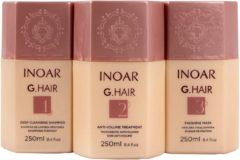 ORIGINAL Inoar GHair 3x250ml Keratin Treatment KIT