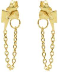Karma Jewelry Karma Oorbellen Chain Lightning Goud