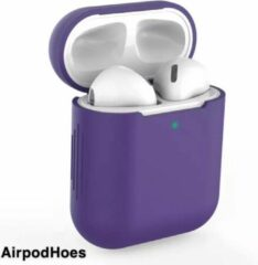 Airpodhoes Siliconen Bescherm Hoes Cover Case Voor Apple AirPods - Paars