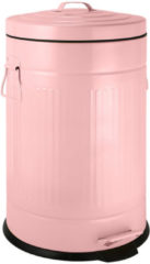 One in a Million Gifts Luxe retro pedaalemmer met handvatten - roze - 12 liter - keuken - kantoor