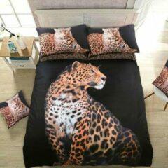 Zwarte Sleepdown Luipaard lits-jumeaux dekbedovertrek - Luipaarden dekbed