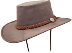 Donkerbruine Barmah Hats Barmah Oilskin Dark Brown Hat