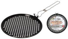 Bbq Pizzapan Voor Barbecue 33 Cm Zwart