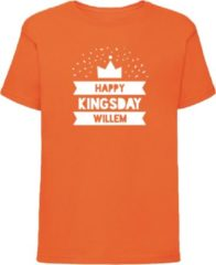 Bulbby Oranje shirt Koningsdag | Happy Kingsday | Maat 134-140