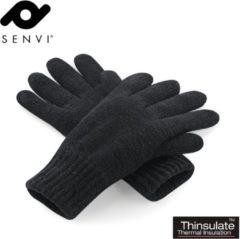 Senvi klassieke 3M Thinsulate™ Handschoenen Zwart Maat S/M (Volledig gevoerd)