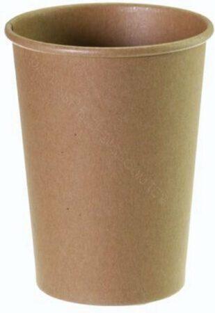 Afbeelding van Packadi Kartonnen Koffiebeker 8oz 240ml bruin - 100 Stuks - wegwerp papieren bekers - drank bekers - milieuvriendelijk