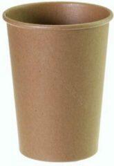 Packadi Kartonnen Koffiebeker 8oz 240ml bruin - 100 Stuks - wegwerp papieren bekers - drank bekers - milieuvriendelijk