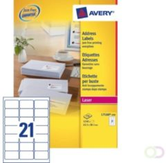 Witte Avery Address Label - Laser 250 Sheets 63.5 x 38.1