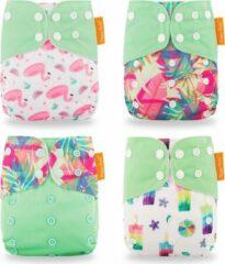 Kidzstore.eu Summer groen Pocketluier set - 4 stuks