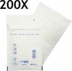 Witte Filmar 200 stuks - Luchtkussen enveloppen A (Bubbeltjes envelop A/11) binnenmaat 100 x 160mm (10x16cm) maat A6 A11