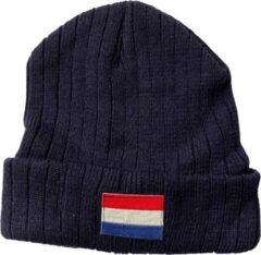 Fashionhouse Premium Kwaliteit Holland Muts / Beanie - Hoogwaardige kwaliteit | Nederlandse Vlag | Blauw