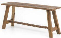 Bruine Perfecthomeshop Houten bankje 100 cm – 45x100 cm – Vintage Look – Duurzaam