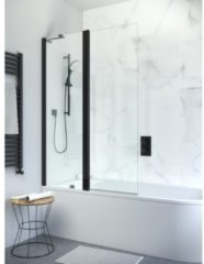 Simpsons Design New badwand 2 delig 106x150cm zwart mat profiel helder glas PBDBC1060