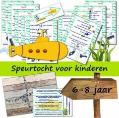 Speurfactory Speurtocht voor kinderen - De gele banaan en de verloren schat - 6 t/m 8 jaar - kinderfeestje - speurtocht- speurpakket - compleet draaiboek - PRINT ZELF UIT!