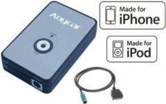 Blauwe Autoleads IPhone iPod 30 pin connector adapter voor Nissan