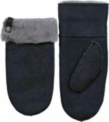 Van Buren Bolsward BV Van Buren suède/wollen wanten | Grijs | 3/XL | Lamsvacht wanten