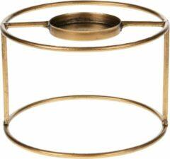 Marli Goods Theelichthouder - Metaal - Goud - Ø15x10cm - Antique gold look