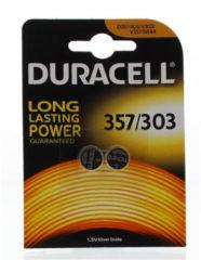 Knoopbatterij SR44-357 zilveroxide Duracell - Blister van 2 batterijen