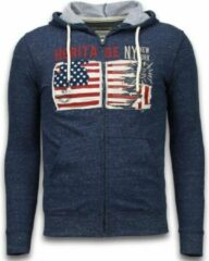 Enos Casual Vest - Embroidery American Heritage - Blauw - Maat: L