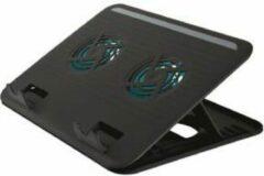 Zwarte Trust - Cyclone - Laptop Cooling Stand - 2 Ventilatoren - USB-voeding - Aanpasbare kantelen - max 16 inch
