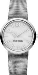 Zilveren Danish Design watches edelstalen dameshorloge Rome Silver White Marble IV62Q1211