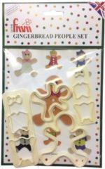 Creme witte FMM Gingerbread Figuurtjes Uitsteker Set