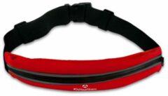 #DoYourFitness - Loopriem - »FunRunner« - heuptas / ritszak voor hardlopen ,elastisch, waterdicht - mobiele telefoon tot ca. 5,5 inch - rood