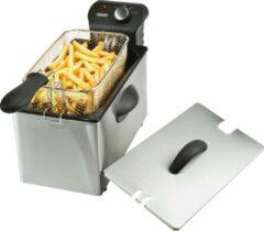 Roestvrijstalen Bourgini Classic Deep Fryer 3.0L friteuse - frituurpan