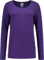 Paarse Tricorp t-shirt lange mouw dames - 101010 - paars - maat S