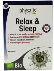 Physalis Supplementen Relax & Sleep Tabletten Geestelijk Evenwicht 45tabletten
