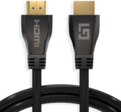LifeGoods HDMI Ultra High Speed 2.1 Kabel - 48 GBPS - 3D - 8k@60Hz - 4k@120Hz - Full HD 4.320 Pixels - Ethernet - Male to Male Cable - Voor TV/Beeldscherm/Tablet/DVD/Laptop/Macbook/PC/Xbox/Playstation/PS - Dun - Zwart - 3 Meter
