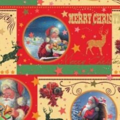 Rode VerraXL Cadeaupapier Kerst - print 26 - 50cm - 200m - 70gr   Winkelrol / Apparaatrol / Toonbankrol / Geschenkpapier / Kadopapier / Inpakpapier