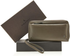 Groene Castelijn & Beerens Giftbox Dames Ritsportemonnee RFID Olive Green
