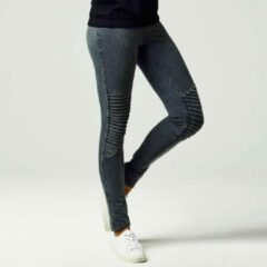 Urban Classics Leggings -M- Denim Jersey Grijs