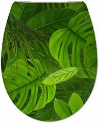 Douche Concurrent Toiletbril Cedo Jungle Print Duroplast Softclose en Quickrelease Toiletzitting