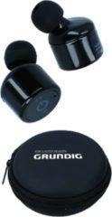 Zwarte Grundig Draadloze Oordopjes - Inclusief Etui - Stereo Geluid - Extra Oorkussentjes - Ingebouwde Microfoon