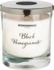 Zwarte Wonderwick Black Pomegranate kaars wit