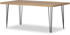 Bruine Lanterfant Lanterfant® Harvey - Eettafel - Eikenhout - 180 x 90 - Hairpin poten