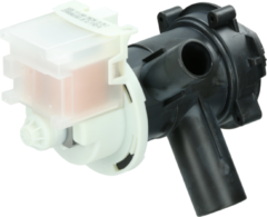 Balay, Bosch, Constructa, Koenic, Lynx, Pitsos, Profilo, Siemens, Viva Ablaufpumpe mit Pumpenstutzen und Filter für Waschmaschinen 144192, 00144192
