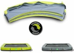 EXIT beschermrand Twist trampoline 214x305cm - groen/grijs