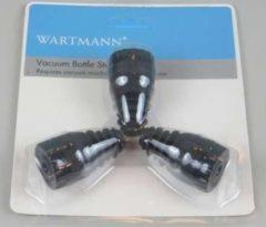 Wartmann vacuum flessenstop set van 3 stuks