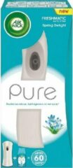 Grijze Air Wick Airwick Freshmatic Max Houder + navulling Pure Spring Delight