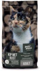 Pets Place Plus Kat Adult - Kattenvoer - Kip&Rijst - Kattenvoer - 4 kg - Kattenvoer
