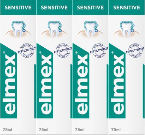 Afbeelding van Elmex Sensitive Tandpasta 4 x 75ml - Voordeelverpakking