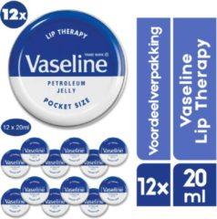 12 x Vaseline Lippenbalsem | Lip Therapy original | Megavoordeelpakket | Originele Vaseline Lippen Balsem
