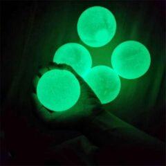 Diamond Goods DiamondGoods Sticky Balls - 4xSticky Wall Balls - Glow In The Dark - TikTok - Fidget Toy - Plakbal - Stress Verlagend - Klevende Bal - Groen