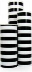 VerraXL Cadeaupapier Luxe Zwart-Wit Gestreept - Rol 50cm - 200m - 90gr | Winkelrol / Apparaatrol / Toonbankrol / Geschenkpapier / Kadopapier / Inpakpapier